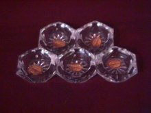 Bohemia Glass Set Of Five( Crystal Salt Cellars)