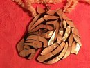 Inlaid Mother-Of-Pearl (Zebra) Necklace