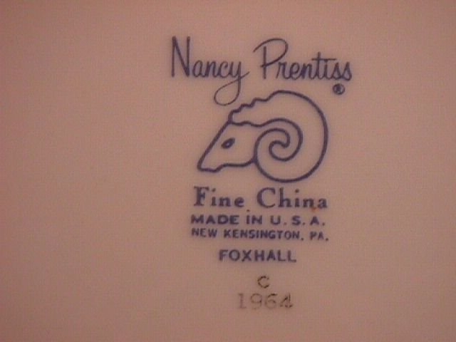 Nancy Prentiss Fine China