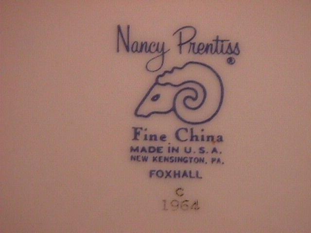 Nancy Prentiss Fine China
