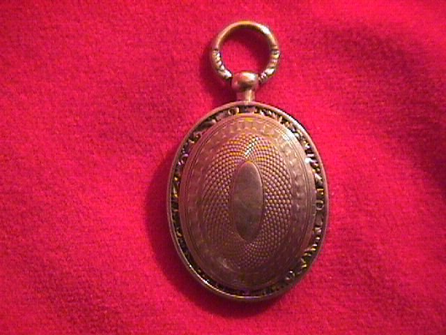 1840 Engine Turned Gold Ladies Locket