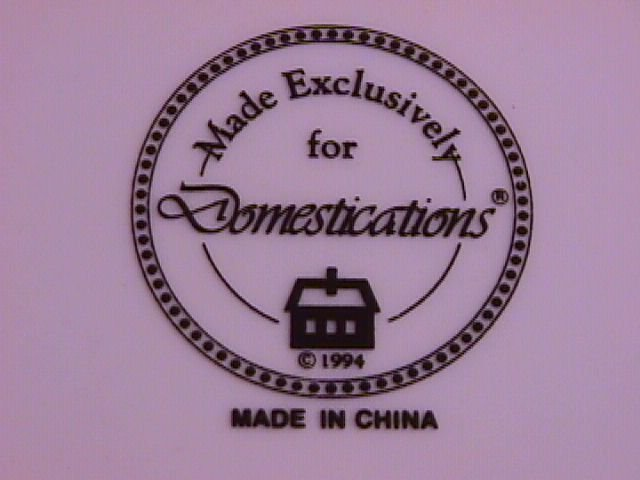 Domestications Fine China