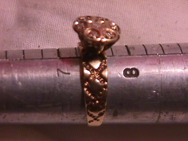 Antique 10K Gold  &  Diamond Wedding Ring