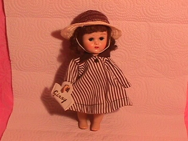 1950's Ginny Brown Stripe Coat, Hat & Purse