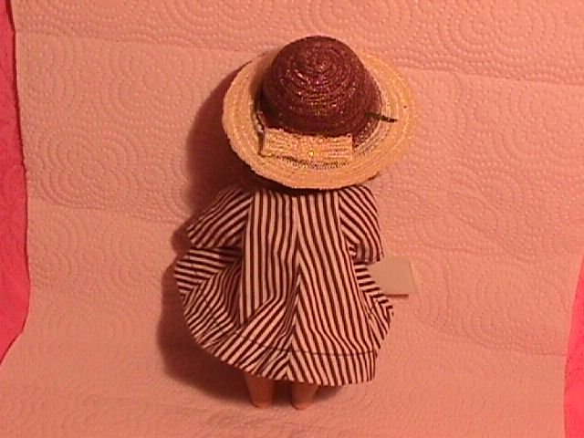 1950's Ginny Brown Stripe Coat, Hat & Purse