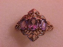 10K Solid Gold Vintage Amethyst Ring