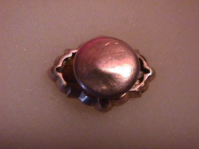 1850 Era Solid Gold Front- Fancy Button