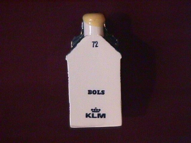Blue Delfts Bols Royal Distillerie Holland Liquor Bottle
