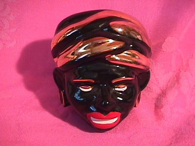 African Maiden Head Vase
