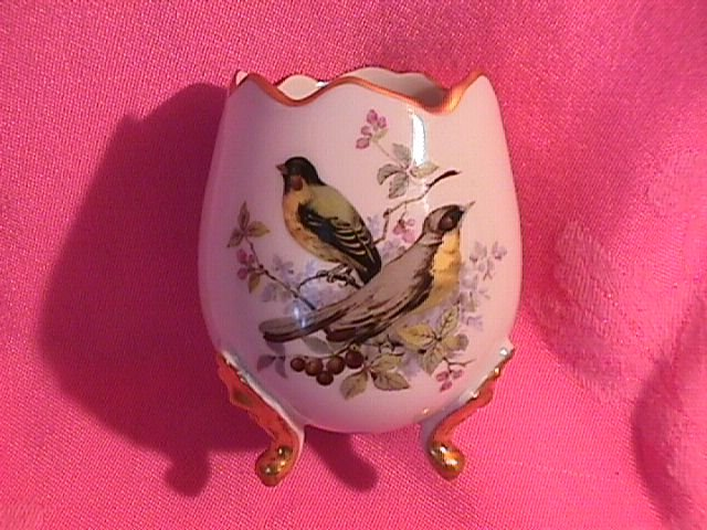 Limoges Porcelain, Footed Egg Vase