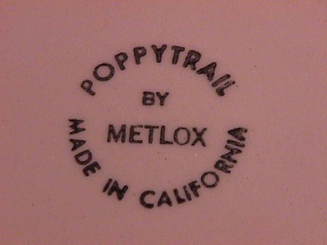 Metlox Poppytrail