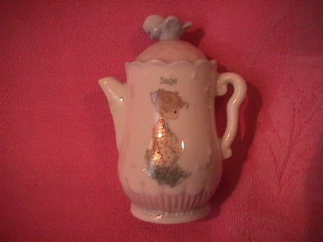 Enesco Precious Moments Spice Jar-Coffee Pot (Sage)