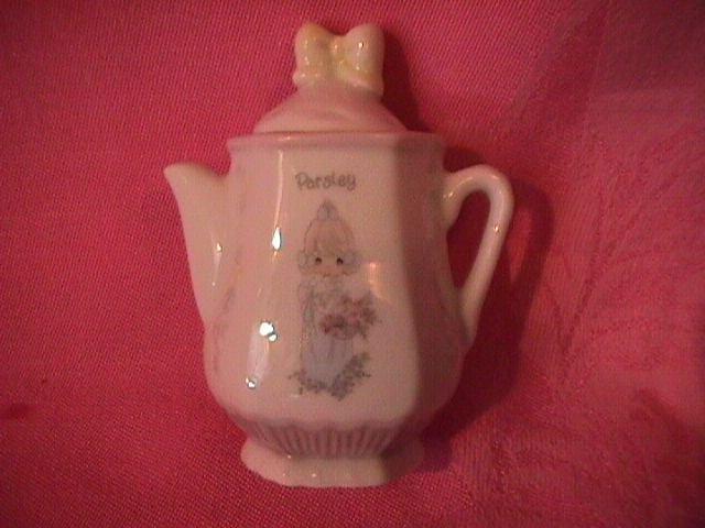Enesco Precious Moments Spice Jar-Coffee Pot (Parsley)