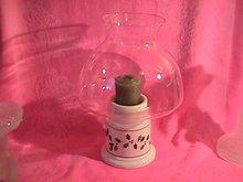 Christmas-Holly Berries Hurricane Lamp