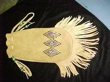 Indian elkskin bag