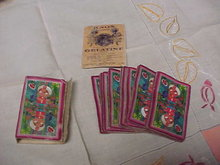 Playing Cards and Knox Gelatin package