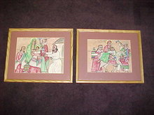 Story of Abraham (4 Ethiopian paintings)