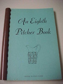 Book showing antique pitchers