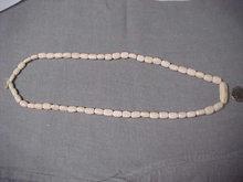 Camel bone bead necklace