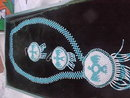 Beaded Necklace, Earrings