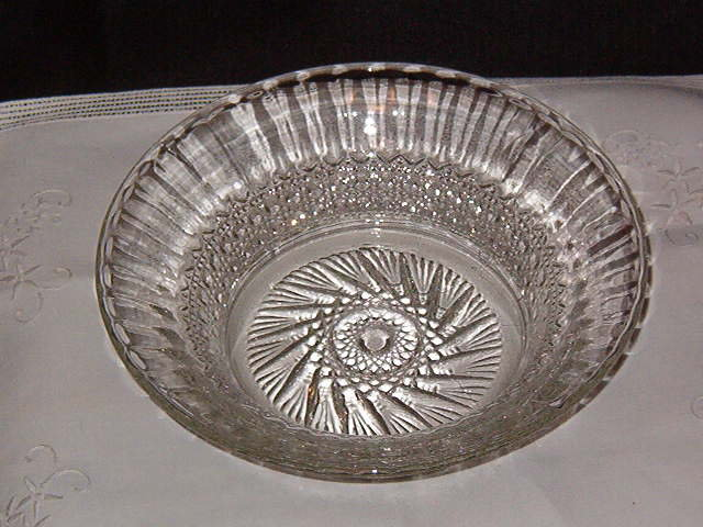 Imperial Glass Co. Flute & Cane Bowl