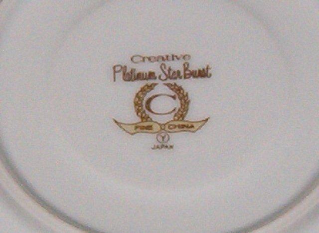Creative Platinum Star Burst Saucer