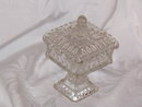 Adams & Co Glass Crystal Wedding Compote w/Lid