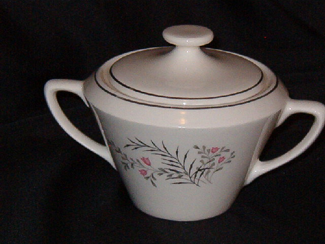 Vintage Retro Sugar Bowl w/Lid