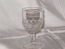 EAPG Honeycomb Wine Glass