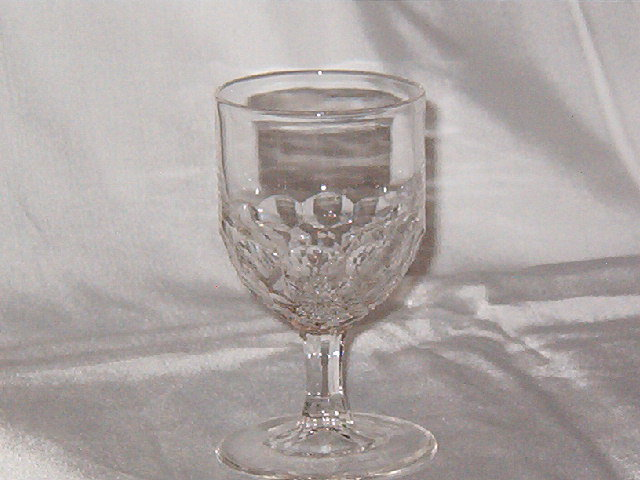 EAPG Honeycomb Wine Glass