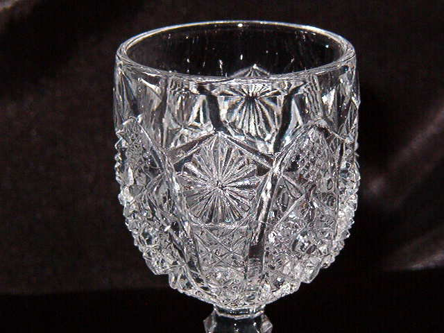 EAPG Imperial Glass Daisy & Button Wine