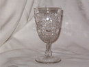 US Glass Log & Star Goblet