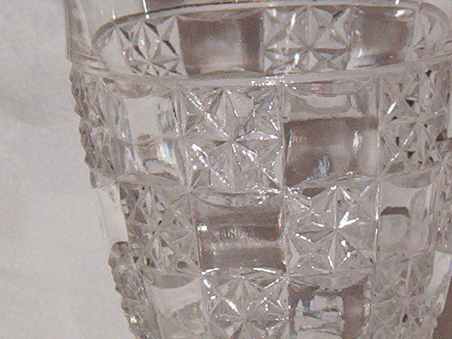 US Glass Log & Star Goblet