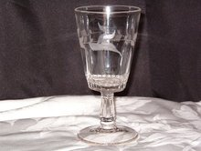 EAPG Adams Glass Co Goblet