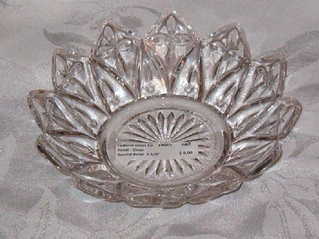 Federal Glass Petal Bowl