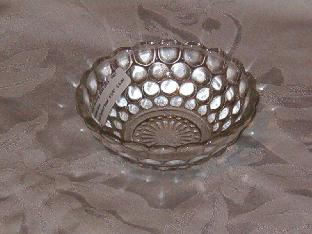 Anchor Hocking Bubble Clear Dessert Bowl