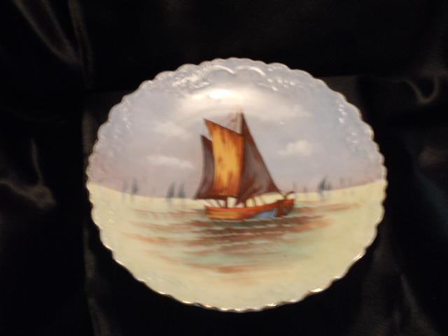 B & H Limoges Sail Boat Plate