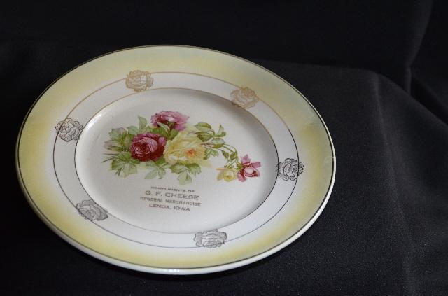 Colonial Co Advertising Painted Plate