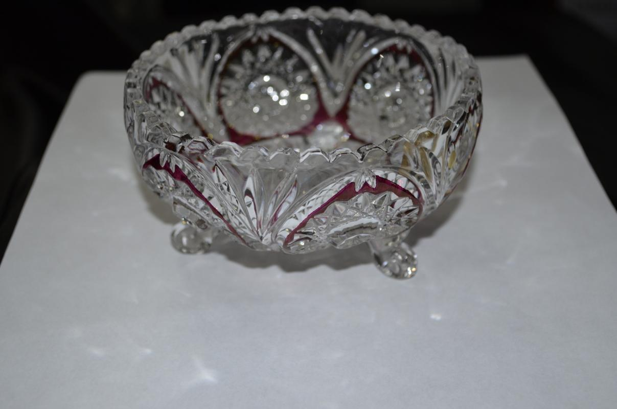 Echt Bleikristall Crystal Footed Dish
