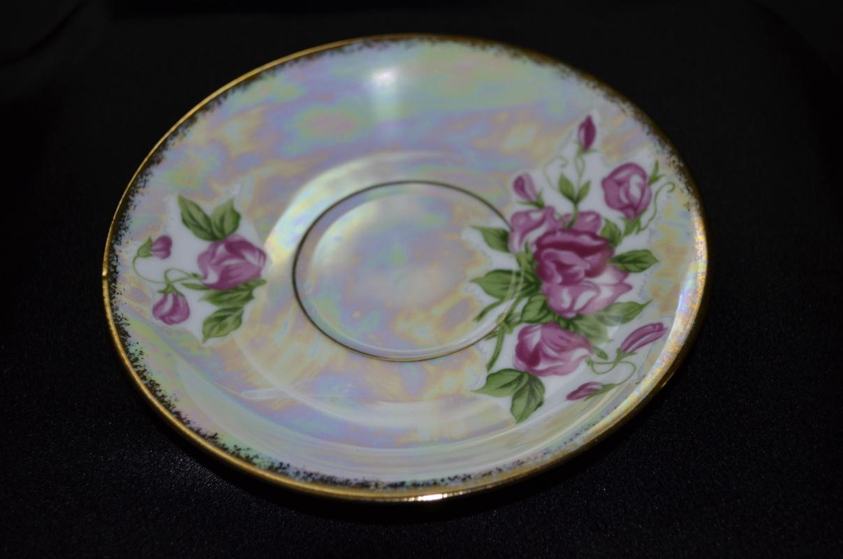 Enesco China April Sweetpea Saucer