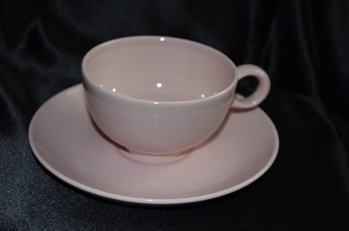 Taylor Smith Taylor Pebbleford Pink Cup & Saucer