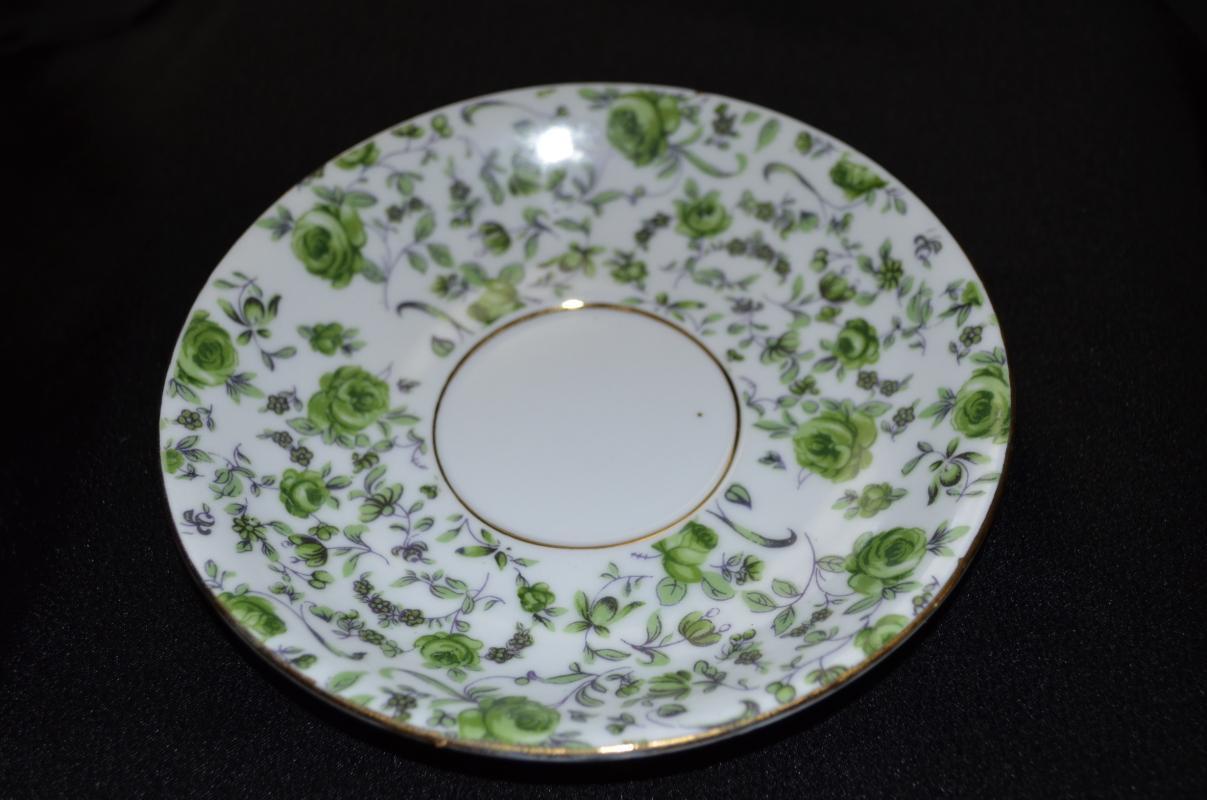 Norleans Green Flowerd Saucer