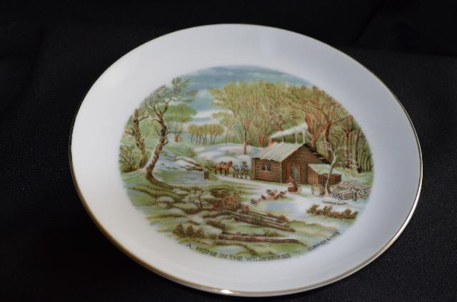 Currier & Ives Home in the Wilderness Plate
