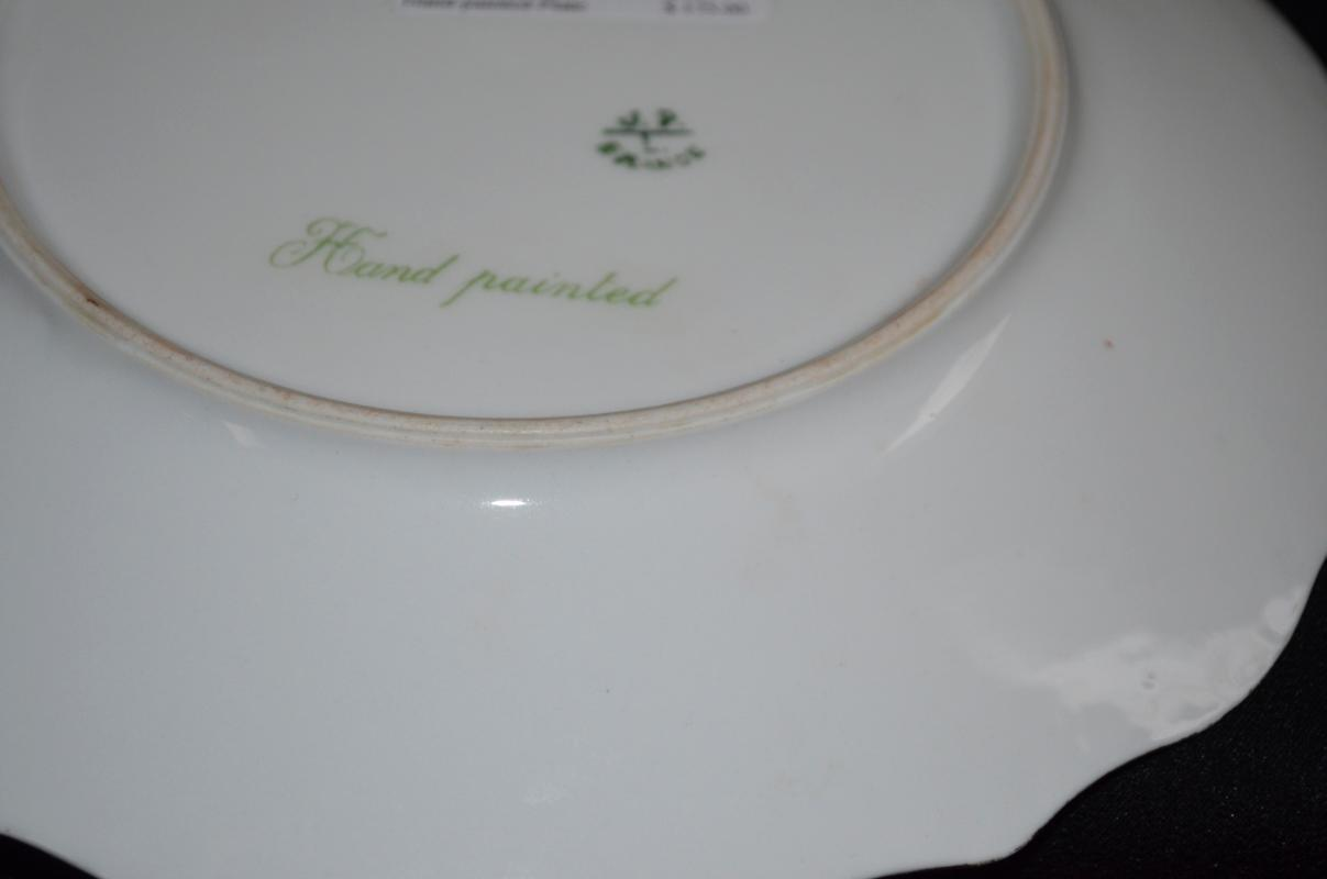 J P Limoges Hand Painted Plate