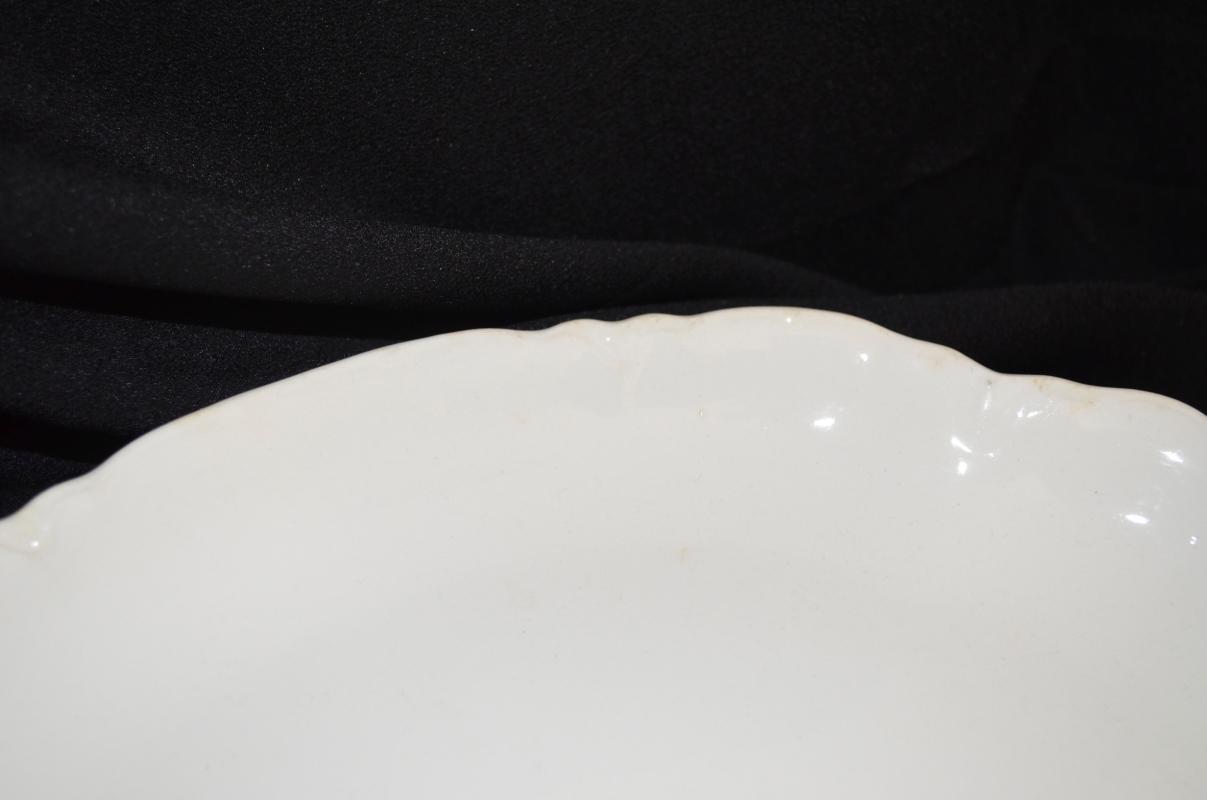 Vintage White Oval Platter