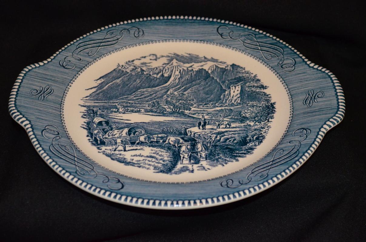 Royal China Currier & Ives Handled Platter
