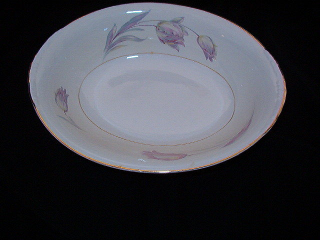 Homer Laughlin Tulip Eggshell Nautilus Oval Vegetable Bowl