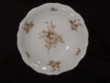 Johann Haviland Sepia Rose Soup Bowl