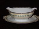 Noritake China Malibu Gravy Boat w/attached underplate