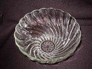 Hazel Atlas Colonial Swirl  Shell Clear  Punch Bowl